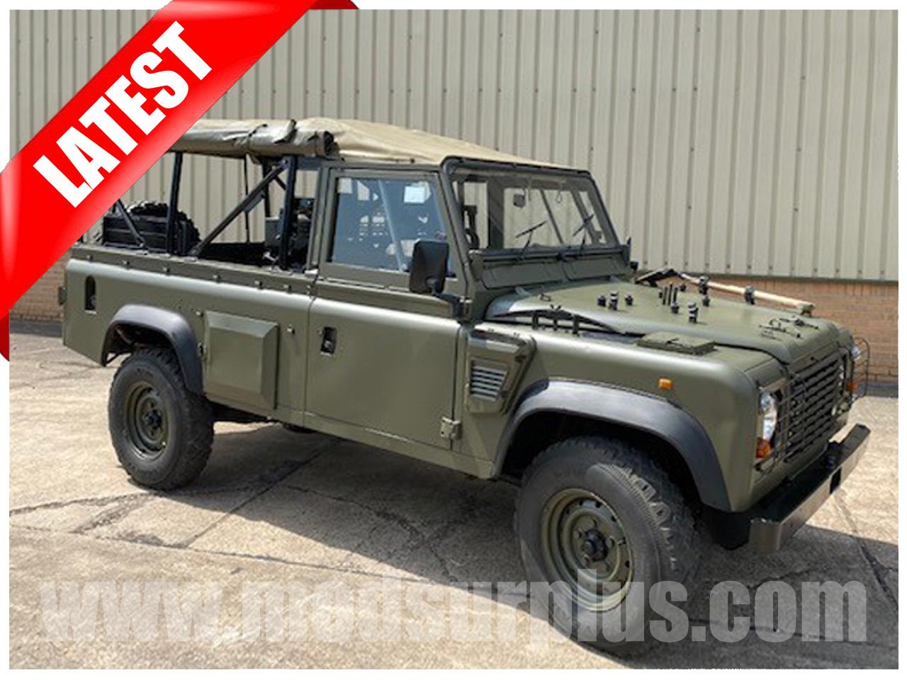modsurplus - ex military vehicle - Land Rover Defender 110 Wolf RHD Soft Top (Remus) - MoD Ref: 50389
