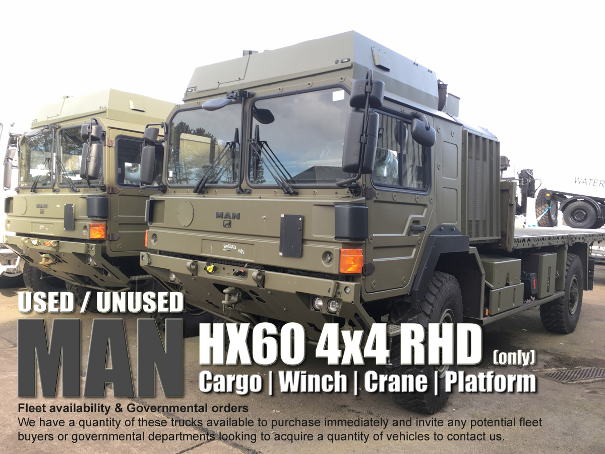 MAN TRUCK HX60 4x4 RHD Ex Army Trucks for sale